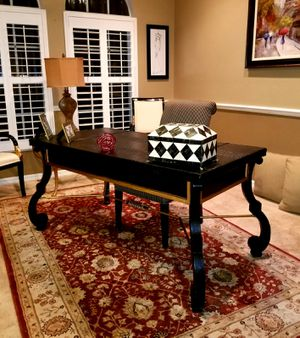 Leather top desk and chair for Sale in Estero, FL