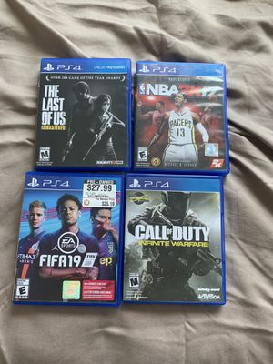FIFA 19, infinite warfare, the last of us, nba 2k17 for PS4 for Sale in San Diego, CA