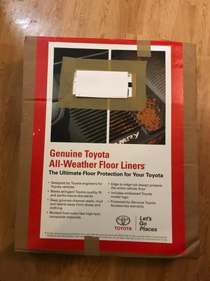 Toyota All-weather Floor liners (A/T only) for Sale in Adair Village, OR