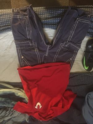 True Religion Outfit $25 for shirt $35 for shorts for Sale in Florissant, MO