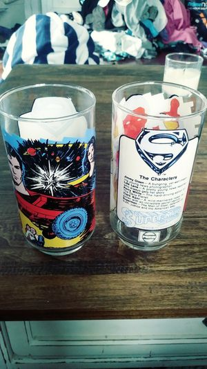 Superman collectible glass cups for Sale in San Diego, CA