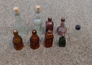 Antique Mini Glass Bottles $5.00 Each for Sale in Burlington, NC