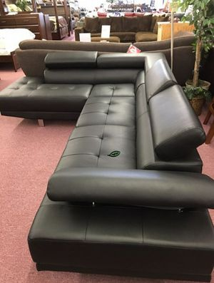 ☑ Special for Black Friday ‼ Antares Black Modern Sectional | U7100 15 for Sale in Jessup, MD