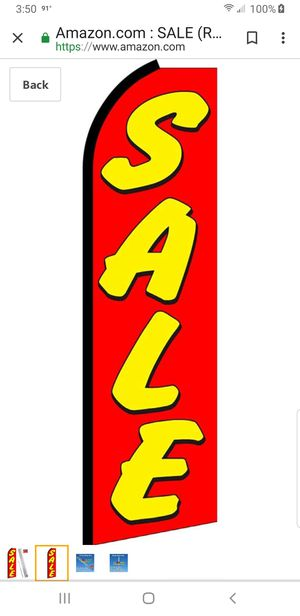 14 ft 'SALE' flag with pole for Sale in Uniontown, OH