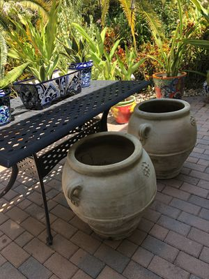 XXL plant pots from Tunisia for Sale in Fort Lauderdale, FL