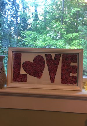LOVE rose wall decoration for Sale in Holly Springs, NC