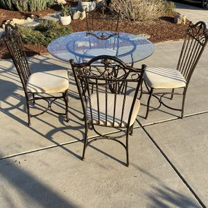 Glass Top Dining Table with 4 Chairs for Sale in Clovis, CA