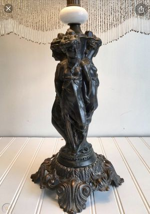 Antique finish cast metal lamp base (doesn't include lamp shade) for Sale in North Miami Beach, FL