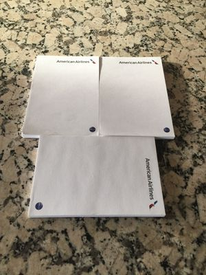 American Airlines note pads for Sale in Los Angeles, CA