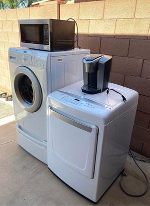Kitchen Starter Kit: Washer,dryer, fridge, microwave, Keurig Coffee Maker for Sale in Scottsdale, AZ