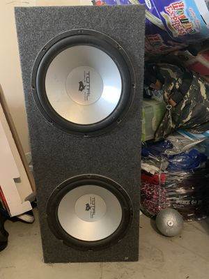 2-12 Total Audio Speakers barley used almost new $90 with box for Sale in Bakersfield, CA