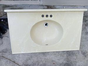 Marble bathroom vanity 38 x 22 for Sale in Miami, FL