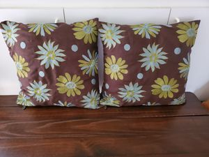Two Beautiful Pier One Decorative Pillows both for 15.00 for Sale in Virginia Beach, VA