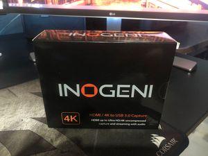 Inogeni hdmi/4k to usb3.0 capture card for Sale in Davie, FL