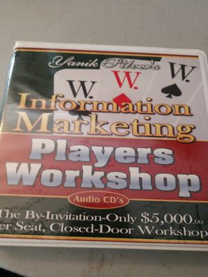 Information marketing players workshop audio CDs for Sale in Puyallup, WA