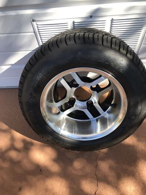 1 golf cart tire and wheel like new. 205-50-10 for Sale in Winter Haven, FL