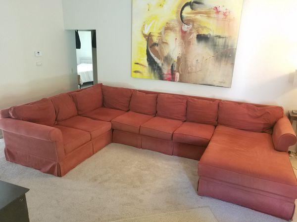 Free, large couch with chaise.