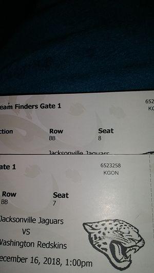 Jacksonville Jaguars vs Redskins Tickets for Sale in Jacksonville, FL