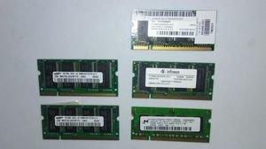 Five 256MB Laptop Ram Cards for Sale in San Jose, CA