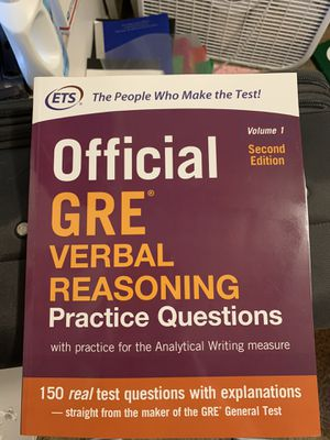 ETS official GRE verbal reasoning practice questions for Sale in Puyallup, WA