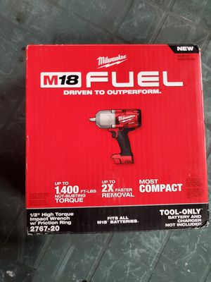 milwaukee m18 fuel high torque impact 1/2inch for Sale in Lombard, IL