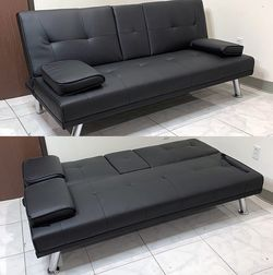 $190 (new in box) convertible folding futon sofa bed recliner couch 65x30x31 inches, max 500 lbs for Sale in Pico Rivera,  CA