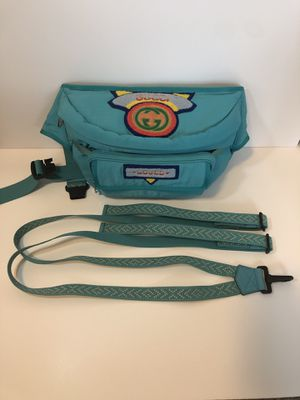 Authentic Gucci Blue Terry Patch Waist Ruck Sack for Sale in San Diego, CA
