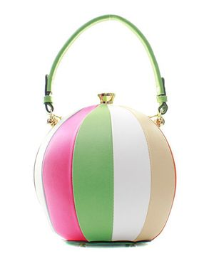 Fashion Faux Leather Color Block Ball Handbag for Sale in Jacksonville, FL