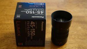 Panasonic LUMIX G Vario 45-150mm F4.0-5.6 Lens for Sale in Elk Grove, CA