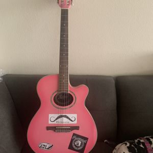 Pink Acoustic Guitar for Sale in Los Angeles, CA