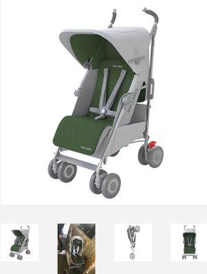 Maclaren Techno XLR Stroller, Silver/Highland Green for Sale in Carrollton, TX