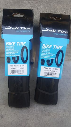 2 new 700x25c road bike single speed fixed gear fixie bike tires for Sale in Long Beach, CA