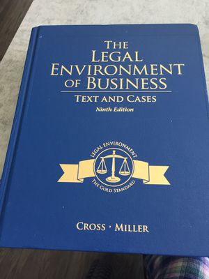 The Legal Environment of Business-Text and Cases for Sale in Delaware, OH
