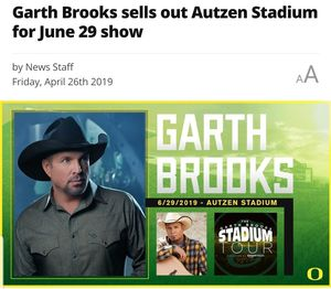 Sold out garth brooks tickets for Sale in Redmond, OR