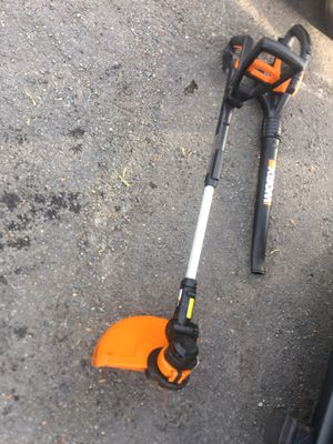 Wrox 20volt Trimmer and Blower for Sale in Alexandria, VA