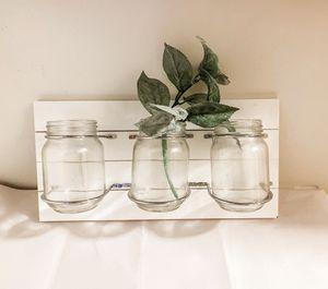 Farmhouse decor three jar organizer for Sale in Seattle, WA