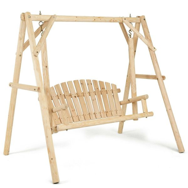 Log Porch Swing