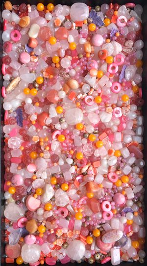 Huge mix of pink gemstone & glass beads for jewelry making for Sale in Seattle, WA