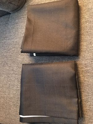 2 black blackout curtains for Sale in Sacramento, CA