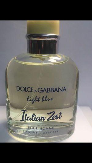 Dolce&gabbana Light Blue Italian zest 4.2 oz men's cologne for Sale in San Bernardino, CA