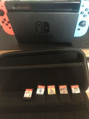 Nintendo switch w games + case for Sale in New York, NY