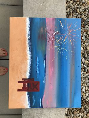 """Fireworks on a Rainy Night 16x20"""" for Sale in Columbus, OH"""