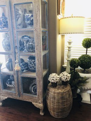 """""""COTTON BALL TOPIARIES"""" SET OF 2 ~~NEW~~ for Sale in Grover Beach, CA"""