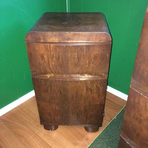 Vintage Mid Century Oak Night Stand Cabinet Telephone Table With Draw for Sale in Clinton, CT