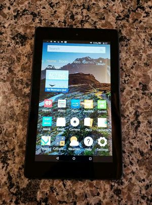 """Amazon Fire Tablet 7th Generation SR043KL 7"""" With Alexa 16GB - Black 7 inch screen & usb Charger with wall plug adapter Apple ipad killer for Sale in Minneapolis, MN"""
