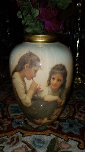 Vintage Victorian 1950s vase with two girls playing flute for Sale in Portland, OR