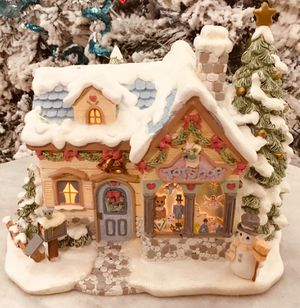 Collectible Hawthorn Precious Moments Christmas Village Tiny Treasures Toyshop. for Sale in Tampa, FL