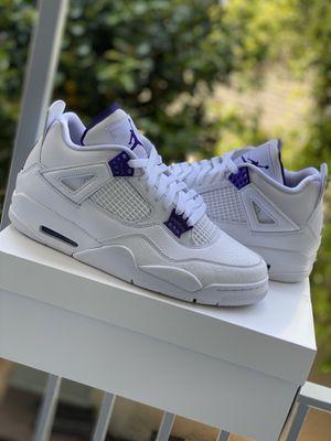 Jordan 4 Metallic purple size 11 for Sale in Beverly Hills, CA
