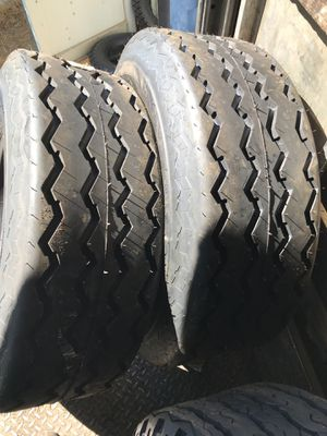 Great Forklift tires and bobcat tires need to go no reasonable off refused $125 16.5s 12,10 for Sale in Palmdale, CA