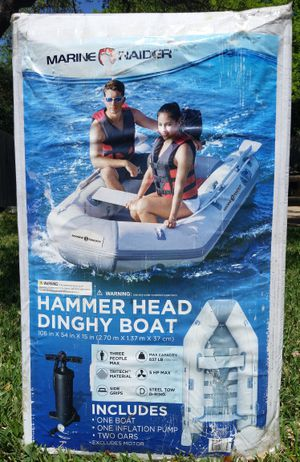 Hammer Head 3 Person Inflatable Dinghy Boat for Sale in Round Rock, TX